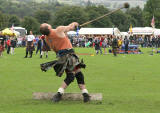 Scottish Highland Games  -  Pitlochry  -  10 September 2005  -   Throwing the Hammer