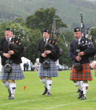 Scottish Highland Games  -  Pitlochry  -  10 September 2005  -   Pipers