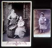 Cabinet Print and Carte de Visite  -  Newhaven Fishwives costume
