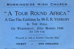 Ticket for a Cine Film by E R Yerbury