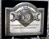 Plaque  -  Coronation Meeting, Powderhall, 1953.  What is known about this plaque?