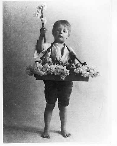 Photograph by AH MacLucas of his son Norman - Flower Seller