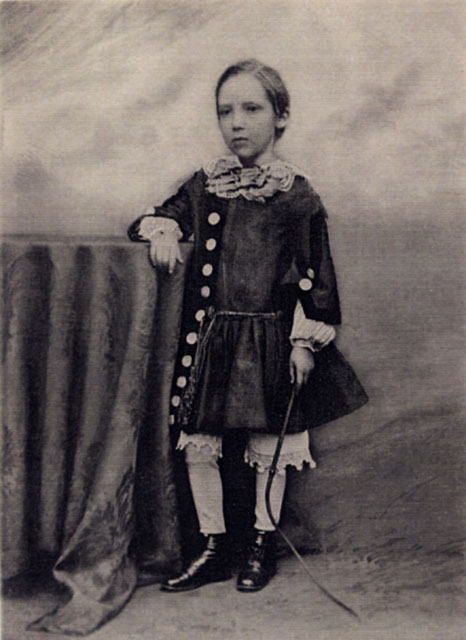 Photograph by Moffat  -  Robert Louis Stevenson, aged 7