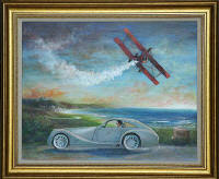 One of a series of paintings of Morgan Cars by 'The Leith Artist', Frank Forsgard Manclark  -   Title: Aeromaximum