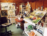 A view of Frank Forsgard Manclark's Studio  -  Edinburgh, May 2005