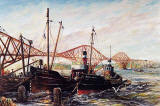 Painting by Frank Forsgard Manclark, 'The Leith Artist'   -   'Black Eagle' of Leith