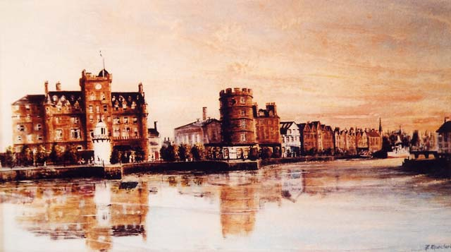 Painting by Frank Forsgard Manclark, 'The Leith Artist'   -   Leith, The Shore