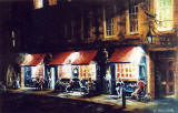 Painting by Frank Forsgard Manclark, 'The Leith Artist'   -   Evening at The Shore, Leith