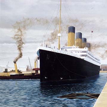 The Titanic  -  Exhibition at the City Art Centre  -  July to September 2004