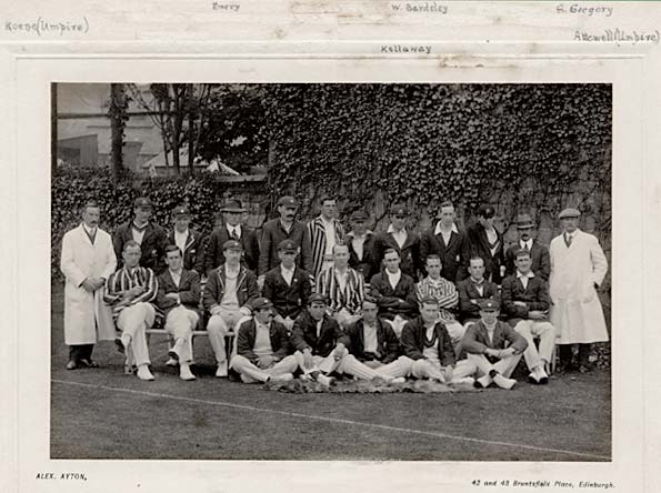Photograph of a Cricket Team by Alex Ayton  -  Which team, and when was the photograph taken?