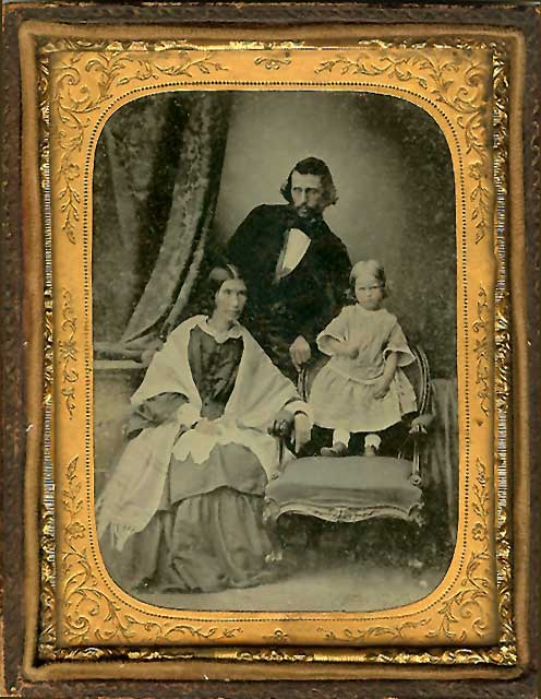 The early Fife and Edinburgh Photographer, Thomas Buist  -  photographed with his wife and daughter in 1857