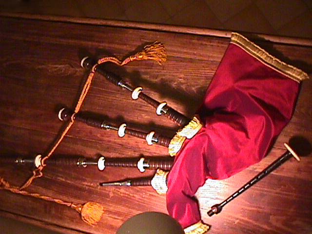 Bagpipes manufactured by John Center & Son