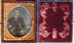 A cased ambrotype by Duchauffour & McIntyre  -  inside