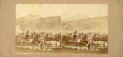 Edinburgh Stereographic Company - Stereo View of Burns' Monument, Old Town and Arthur's Seat, Edinburgh