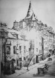 Etching of Canongate Tolbooth, Edinburgh,  by Robert Smith Forrest