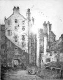 Etching titled 'Chancellor Court'  by Robert Smith Forrest