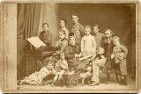 The Family of John & Agnes Horsburgh  -  Photograph taken around 1877