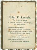 The back of a Photograph by John Fraser Lessels
