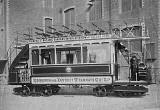 Photograph by T P Lugton  -  First tram car in Edinburgh