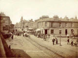 Photograph by T P Lugton in the Poulton series  -  Horse-drawn tram at Portobello High Street