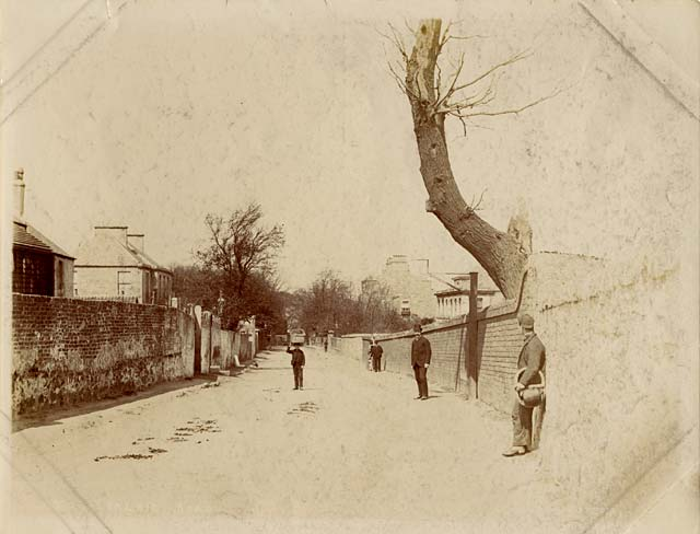 Albumen print of Restalrig Road, Edinburgh, by John McKean