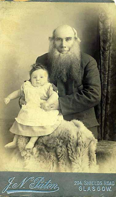 The father of photographer John Naismith Paton and his grandson, James Stuart Paton  -  photographed by John Naismith Paton