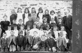 A photograph  by D & W Prophet of a school class at Reay, Caithness in the north of Scotland  -  c.1898