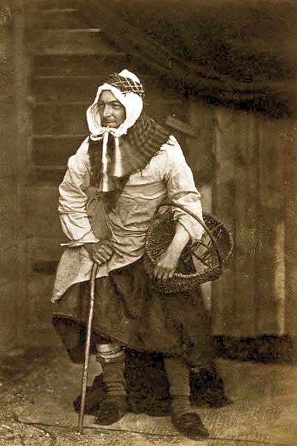 Thomas Rodger [sen.] - dressed in Newhaven Fishwives' costume.