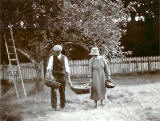 Photograph from the family of Horatio Ross  -  At work in the Garden  -  Which garden?