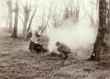 Photograph from the family of Horatio Ross  - Preparing the Fire in the Scottish Highlands