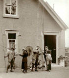 Photograph from the family of Horatio Ross  - Preparing to leave on a fishing outing