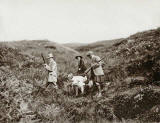 Photograph from the family of Horatio Ross  - Crossing the moor in the Scottish Highlands