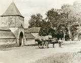 Photograph from the family of Horatio Ross  - Horse and cart, somewhere in the Scottish Highlands