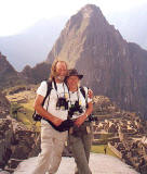 EPS Members, Doug Hamilton and Sue Hill  -  on holiday at Machu Picha, Peru
