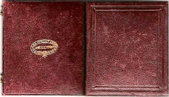 Red leather case of an Ambrotype Photo by James G Tunny