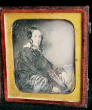 Ambrotype by J G Tunny, possibly of  his first wife, Margaret (nee Smith)