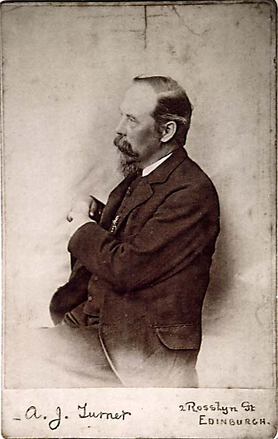 Ebenezer Turner - photograph in the style of a cabinet print by Arthur J Turner
