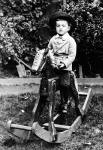 Photograph from the Turner Family Album  -  Harold W Turner on a Rocking Horse