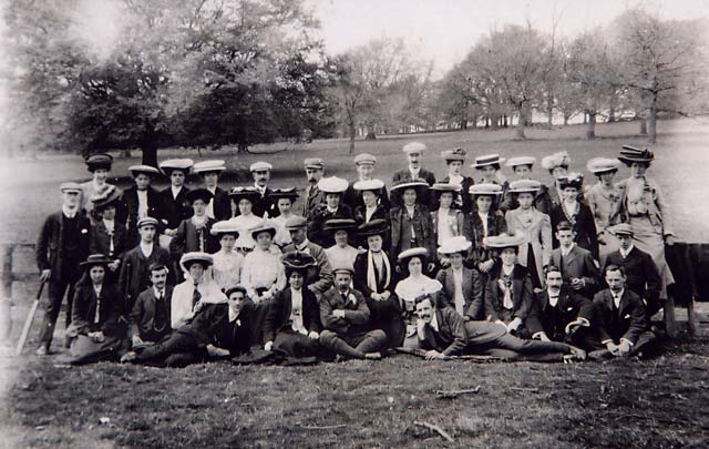 Photograph from the Turner Family Album  -  Pub Outing 1905