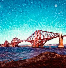 New Images of Edinburgh  -  by Trevor and Faye Yerbury  -  In exhibition, August 2004  -  The Forth Rail Bridge