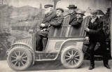 William and Edward Drummond Young and others in a car