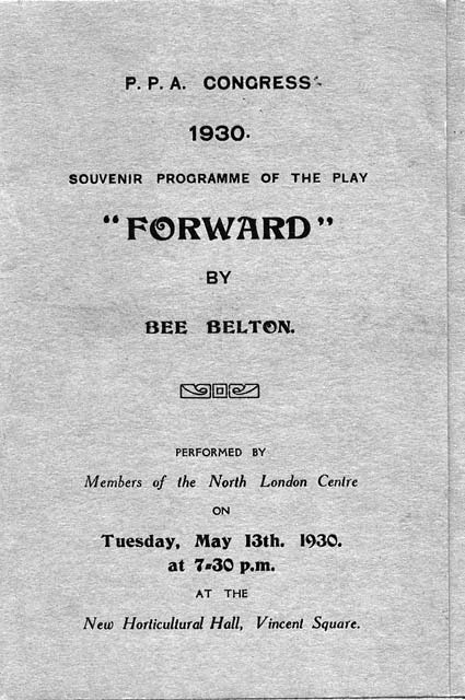 The Cover of a Programme for a Play performed by Members of North London Branch of the Professional Photographers' Association at the Annual Congress, London, 1930