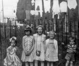 Five Children in the back garden of No.7 Graham Street