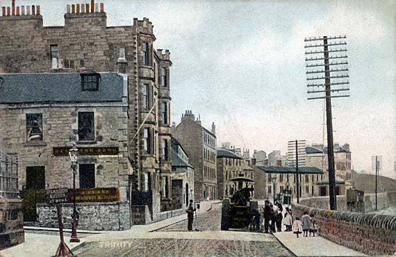 Postcard -  Trinity  -  Looking along Starbank Road towards Trintiy Crescent