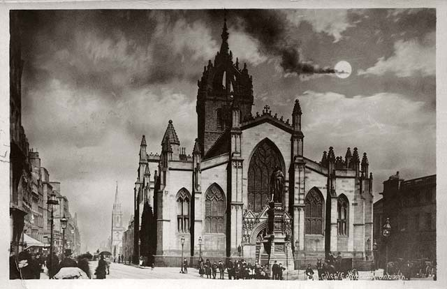 St Giles Cathedral  -  post card - Alex Anderson