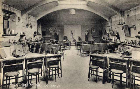 Postcard by PA Buchanan & Co  -  St Hilda's School, Liberton  -  Dining Room, Junior House