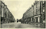 One of a Set of 8 postcards in 'Goldenacre' series,  published by Burns Stationery Depto, Goldenacre, Edinburgh  -  Inverleith Row