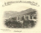 Postcard  -  Castle Series  -  Holyrood Palace and Arthur's Seat