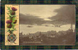 Postcard published by D & SK  -  Fleet protecting the Forth Rail Bridge