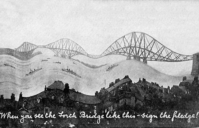 Albany Post Card No 3295  -  Painting  -  The Firth of Forth and Forth Rail Bridge